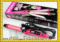 Плойка-утюжок для волос Nova 2in 1 Beauty Set