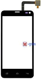 Тачскрин (сенсорный экран) для телефона Fly IQ4416 ERA Life 5 черный (тестирован)