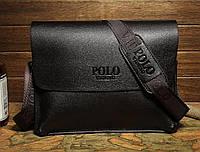 Мужская сумка-портфель Polo Videng. Черная