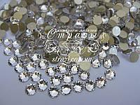 Стразы клеевые Lux ss20 Crystal (5.0mm) gold foil 100шт