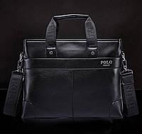 Стильная мужская сумка Polo. Черная