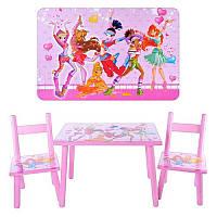 Детский деревянный столик Winx с двумя стульчиками