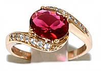 Кольцо  фирмы XР. Цвет: позолота.Камни: белый и красный циркон. Ширина кольца: 1 см. Есть только  16 р.