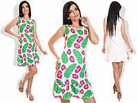 """Стильное молодежное платье мини """" Листья и цветы """" Dress Code"""