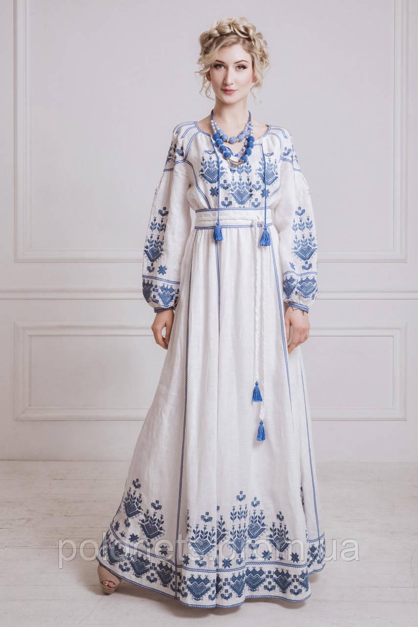 Сукня вишита з льну - Дизайн-студія Оксани Полонець в Киеве e96b11d4a431b