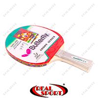 Ракетка для настольного тенниса Butterfly MT-4427 Addoy-F1 3 star (1 шт. дубл., древесина, резина)