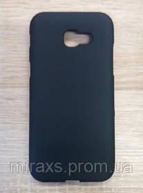 Силиконовый чехол Samsung A720 (2017), Черный