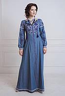 Стильна вишита сукня, фото 1