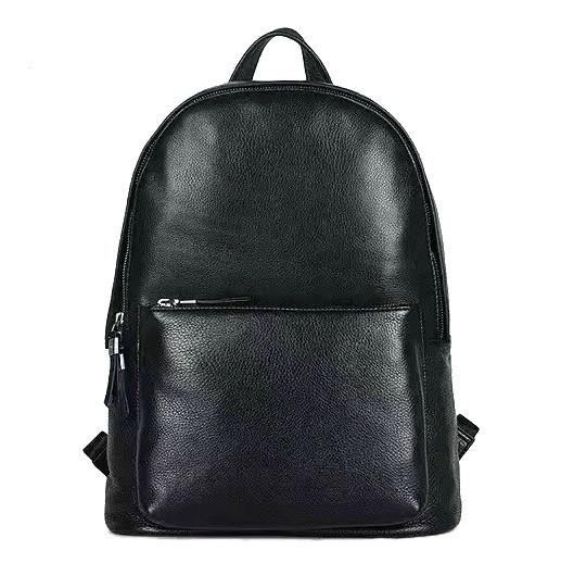 Удобный кожаный рюкзак на 15 л. Tiding Bag B3-012A, черный