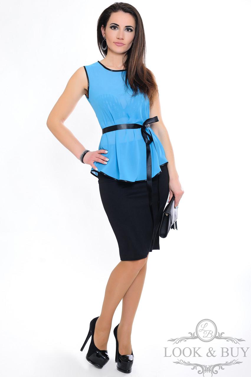 """Туніка шифонова """"Zara"""", блакитний"""