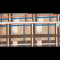 Школьный текстильный пенал zibi zb16.0451 бежевая клетка