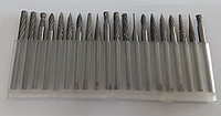 Комплект твердосплавных фрез для гравера 3х3х20шт