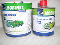 Автоэмаль краска акриловая MOBIHEL (МОБИХЕЛ) 355(Гренадер) 0,75л + отвердитель 9900 0.375