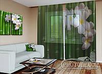 """ФотоТюль """"Бамбук и цветы"""" (2,5м*3,0м, на длину карниза 2,0м)"""