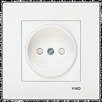 VIKO Karre Розетка  (без заземления), с защитными шторками Белая (90960043)