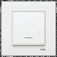 VIKO Karre Выключатель с подсветкой  Белый (90960019)