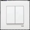 VIKO Karre Выключатель 2-х клавишный  Белый (90960102)