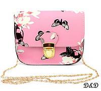 """Женская сумка """"Бабочки"""" розовая, фото 1"""