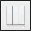 VIKO Karre Выключатель 3-х клавишный  Белый (90960068)