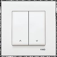 VIKO Karre Выключатель управления жалюзи 2-х клавишный  Белый (90960072)