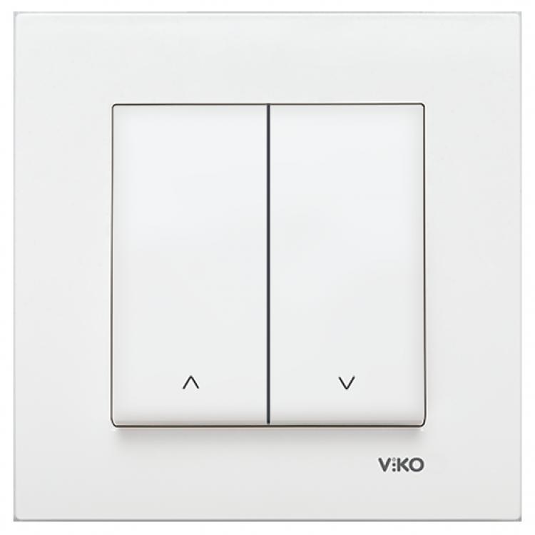VIKO Karre Выключатель управления жалюзи 2-х клавишный  Белый (90960072) class=