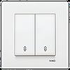 VIKO Karre Переключатель проходной 2-х клавишный  Белый (90960017)
