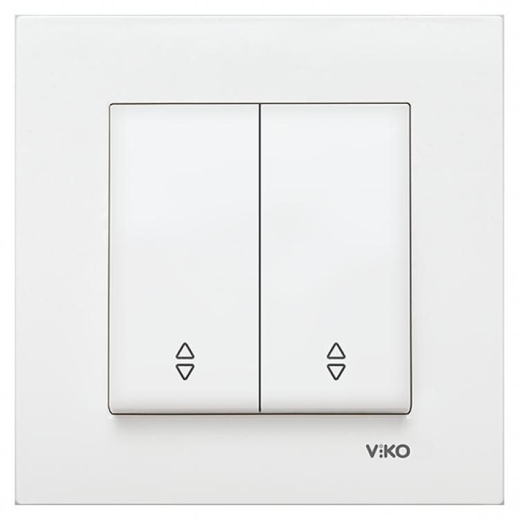 VIKO Karre Переключатель проходной 2-х клавишный  Белый (90960017) class=