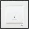 VIKO Karre Переключатель проходной с подсветкой  Белый (90960063)