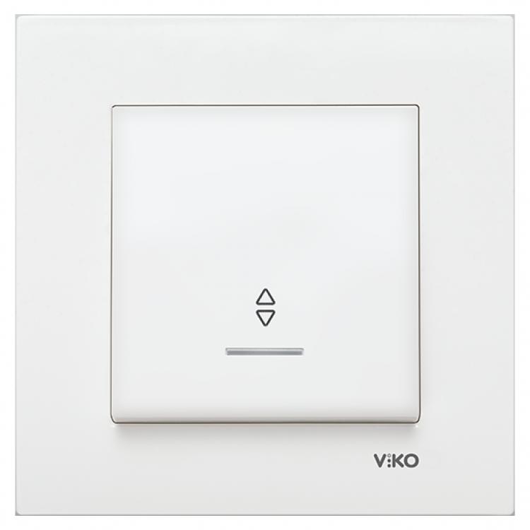 VIKO Karre Переключатель проходной с подсветкой  Белый (90960063) class=