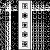VIKO Karre Пятерная вертикальная рамка  Белый (90960204)