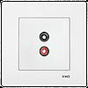 VIKO Karre Аудиорозетка для динамиков  Белый (90960037)