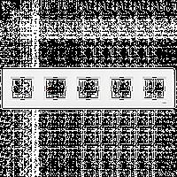 VIKO Karre Пятерная горизонтальная рамка  Белый (90960224)