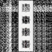 VIKO Karre Четверная вертикальная рамка  Белый (90960203)