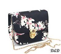 """Женская сумка """"Бабочки"""" черная, фото 1"""