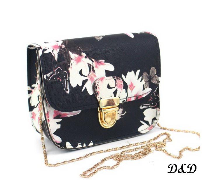 """Женская сумка """"Бабочки"""" черная"""