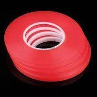 Скотч двусторонний  3M  длина 50м, ширина 3мм красный