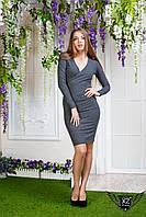 Платье с V-образным вырезом спереди, цвета графит, все размеры, другие цвета