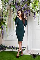 Платье с V-образным вырезом спереди, цвета бирюзовое, все размеры, другие цвета