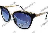Солнцезащитные очки в стиле Dior, золотистые дужки