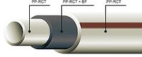 Труба полипропиленовая для горячей воды и отопления FIBER BASALT PN20 40х6,7