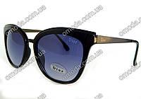 Солнцезащитные очки в стиле Dior, черные