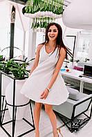 Коротенькое платье на брительках, цвета белое, все размеры и другие цвета