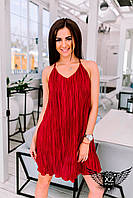 Коротенькое платье на брительках, цвета бордовое, все размеры и другие цвета