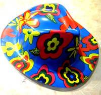 Шляпа карнавальная пластик Цветы