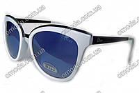 Женские солнцезащитные очки в стиле Dior, белые
