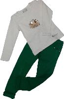 Джинсы на девочку весенние Zara Baby зеленые размер 116