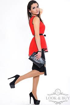 """Червона блуза-туніка """"Zara"""","""