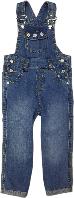 Полукомбинезон джинсовый для девочки ТМ Бемби ПК106 размер 80