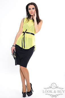 "Летняя блузка  ""Zara"", желтый"