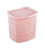 Контейнер для стирального порошка  ELIF АЖУР (Розовый) 6 л
